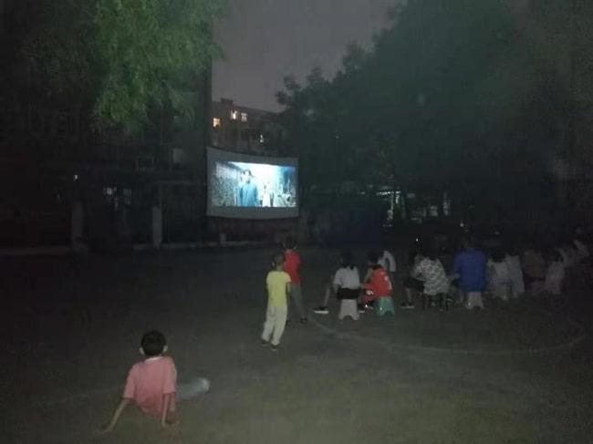 """乐天堂fun88官网所举行""""文化进社区""""公益电影放映活动"""
